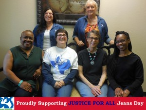 staff photo Justice for all jeans day